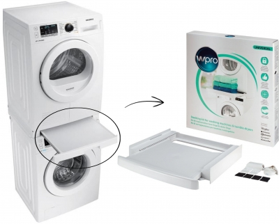 Kit superposition universel lave linge s che linge avec - Meuble superposition lave linge seche linge ...