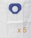 5 sacs Microfibre aspirateur NILFISK GM 80