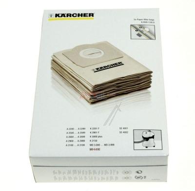 5 sacs aspirateur karcher acheter poche papier aspirateur. Black Bedroom Furniture Sets. Home Design Ideas