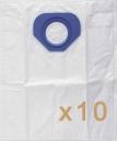 0 sac Microfibre aspirateur NILFISK GS 80